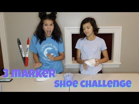 3 MARKER SHOE CHALLENGE!-DIY SHOES