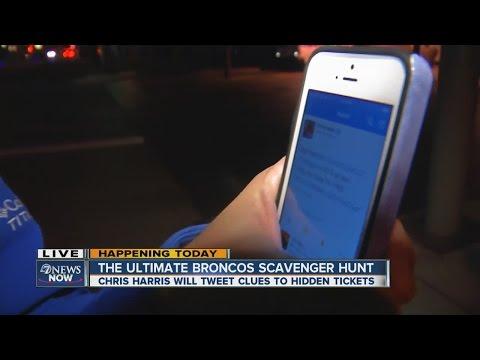 Scavenger hunt for free Broncos tickets