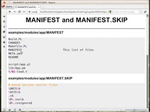 MANIFEST and MANIFEST.SKIP in Perl