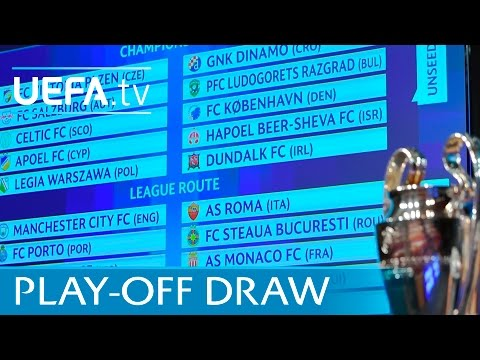 2016/17 UEFA Champions League play-off draw