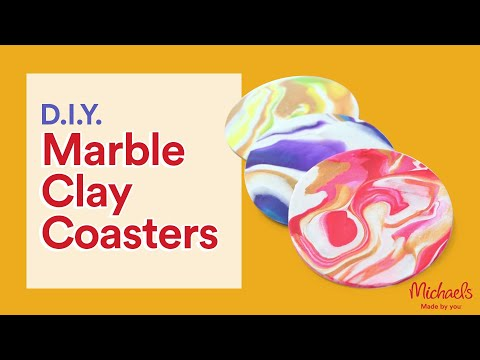 Easy Marble Clay Coasters | Michaels