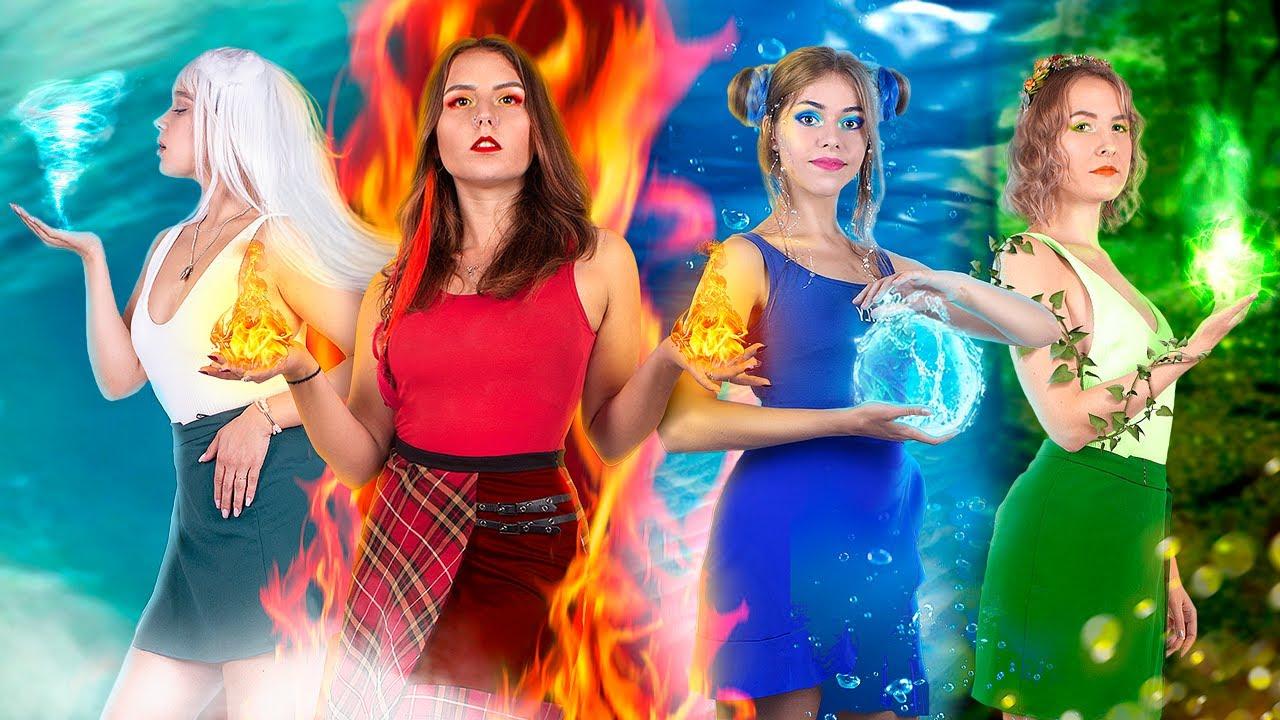 Chica de Fuego, Agua, Aire y Tierra / ¡Los Cuatro Elementos de Campamento!