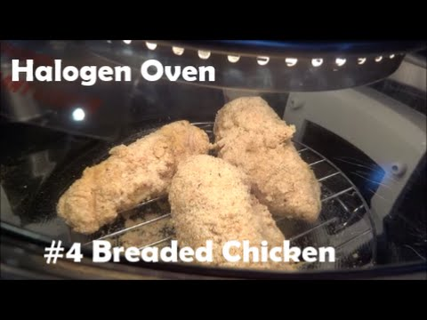 cooking in a Halogen Oven #4 - Breaded Chicken with yam fries