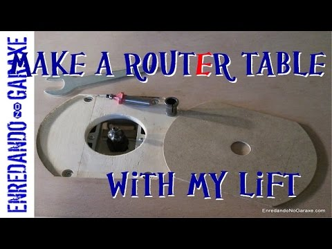 How to make a router table with lift