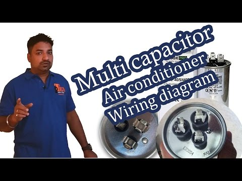 3 terminals capacitor Air conditioner wiring diagram - Hindi