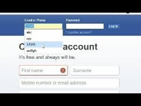 How to Delete Facebook Suggested Email id from Facebook Login page - Just in one step