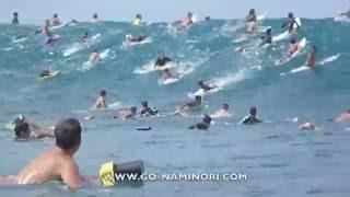 SURFING HAWAII: BIG PIPELINE FIRST SWELL! [ハワイ:パイプライン]