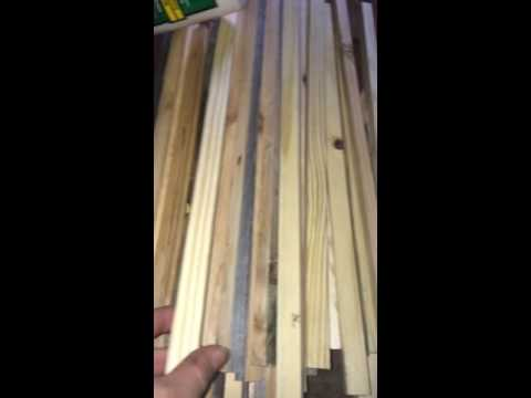 Making foundation less deep langstroth hive frames part one