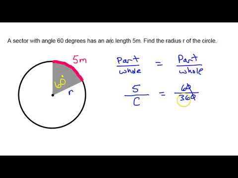 Finding Radius Given Arc Length and Angle Measure