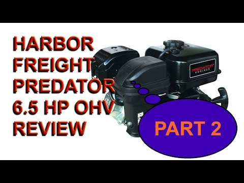 HARBOR FREIGHT 6.5 OHV Horizontal Shaft Gas Engine review and Go-cart Project Part #2