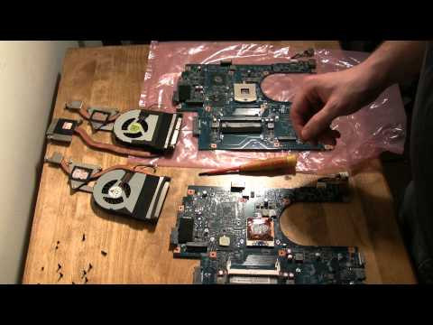Upgrading the video card Acer Aspire 7741 laptop - replacing the motherboard
