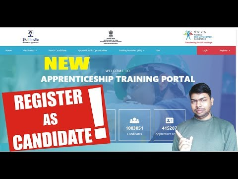 Register as Candidate 💻on Apprenticeship Training Portal!