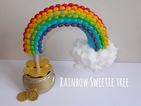 How to Make a Pot of Gold Rainbow Sweetie Tree DIY