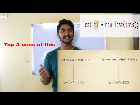 uses of this keyword in java || 3 uses you must know || part 5
