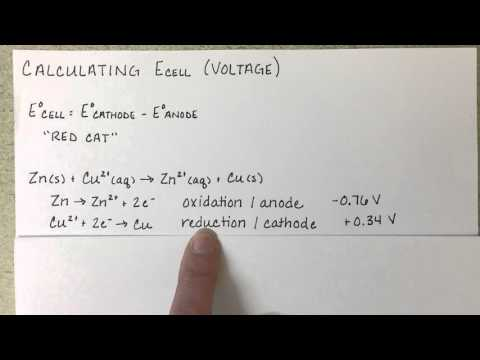 Calculating Voltage of Galvanic Cell