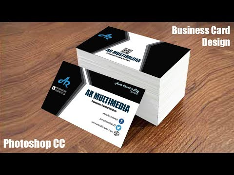 How to Design Business Card in Adobe Photoshop cc|Graphic design   business cards|Mockup Design
