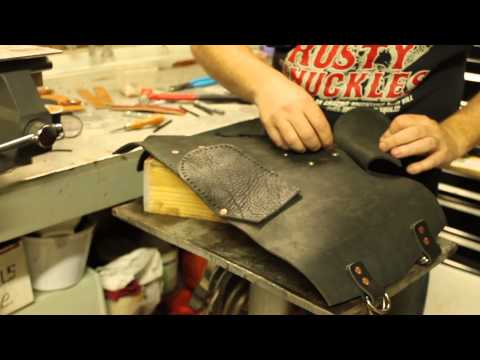 Custom Leather Motorcycle Tool Bag - Featuring the Music of Billy Don Burns
