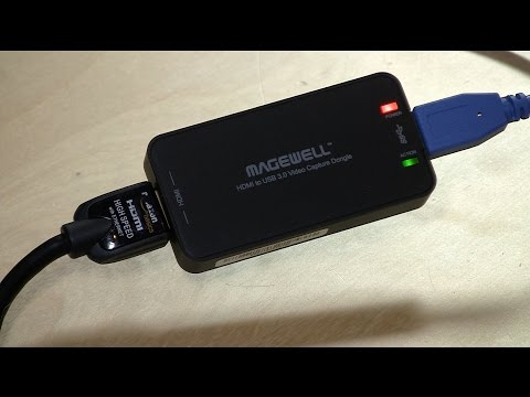 Magewell HDMI to USB 3.0 Video Capture Dongle Review - turns a camcorder into a webcam for Skype