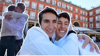 Viaje hasta MADRID para sorprender a mi hermano / Juanpa Zurita