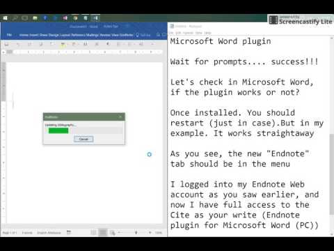 ENDNOTE WEB (Part 1 of 3) Installing Endnote plugin Cite as you Write for Microsoft Word