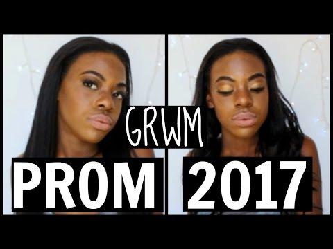 GRWM PROM 2017! MAKEUP, HAIR + DRESS!