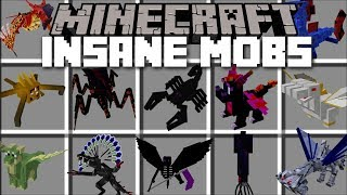 Minecraft INSANE MOBS MOD / FIGHT THE KING AND QUEEN DRAGONS TO SURVIVE!! Minecraft