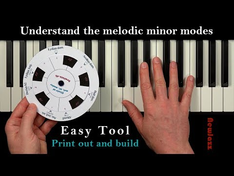 Smart Tool to look up Jazz Scales: the Melodic Minor Modes
