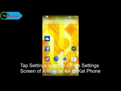 Setting Up a Screen Lock as a Pattern Lock in Android 4.4.4 KitKat Phone