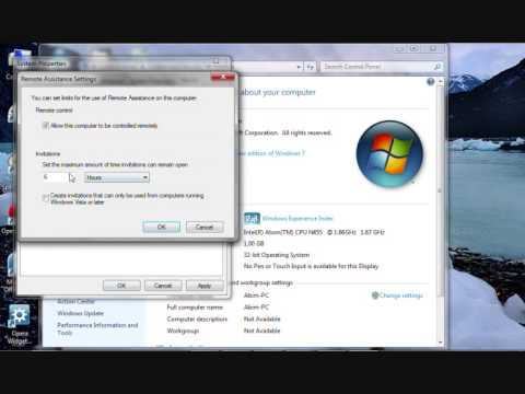 Windows 7: How to Enable Remote Desktop Connection