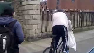 bike thief caught red handed in Dublin