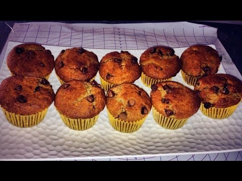 Banana Choc Chip Muffin with Peanut Butter Filling