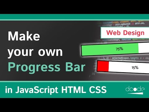 Create your own Progess Bar in HTML, CSS & JavaScript | Web Development Tutorial