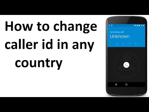 How to change caller id (any country)