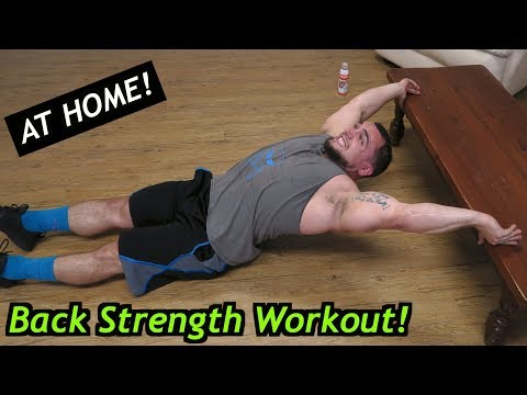 Back Workout At Home | Bodyweight Strength Training