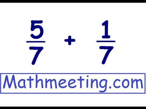Adding Fractions - common denominators