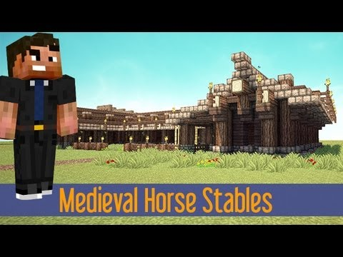Minecraft Build Tutorial Medieval Horse Stable: Quick and Easy! XBOX/PS3/PE/PC