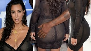 Kim Kardashian Hot Cleavage And Butt Show At MTV VMAs 2016 Red Carpet