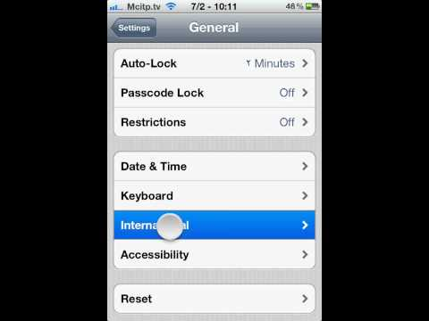 how to change apple iphone ios 5 Region Format to Tunisia Arabic