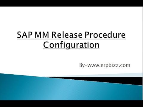 SAP MM Release Procedure Config Video