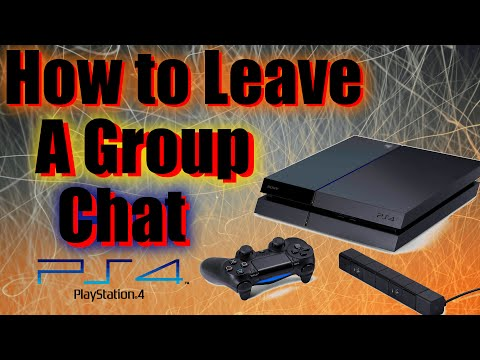 How to Leave Group Chat Playstation 4 (PS4)