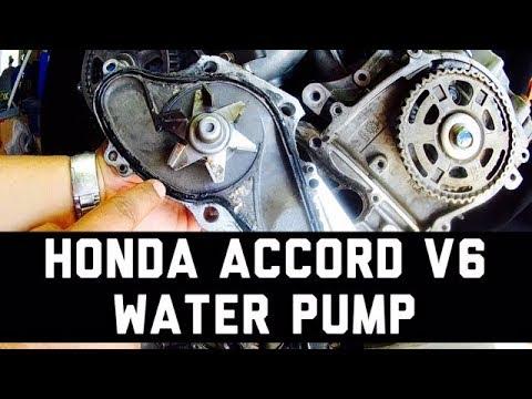 Honda Accord V6 Water Pump Removal 3.0L 3.2L 3.5L 3.7L Pilot Ridgeline Odyssey TL CL MDX ZDX