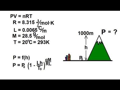 Physics - Thermodynamics: (1 of 1) Air Pressure at Altitude
