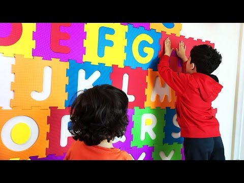Big squishy ABC letters to decorate the kids' room and learn the ALPHABETS. Let's Play Kids