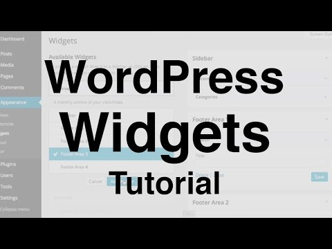WordPress Widgets Tutorial