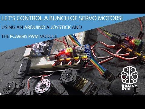 Control a 'LOT' of Servo Motors using a Joystick, Arduino and PCA9685 PWM Module - Tutorial