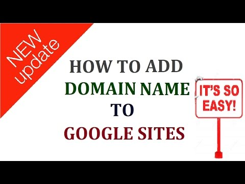 how to add custom domain name to google sites