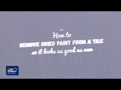 How to Remove Spilt Paint from Tiles - Dulux