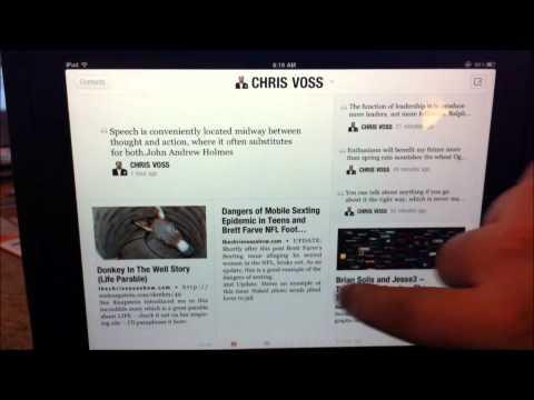 The Chris Voss Show Feed on iPad Flipboard App