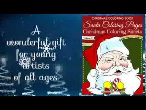 Santa Coloring Pages - Christmas Coloring Sheets - Christmas Coloring Book vol 2