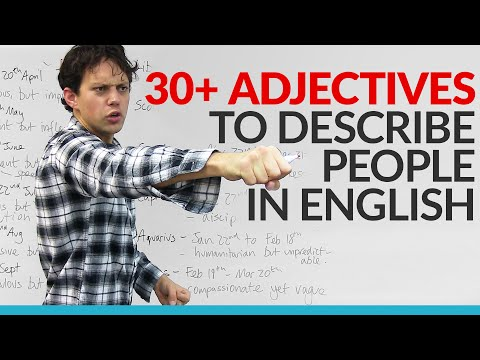 Vocabulary - Learn 30 adjectives in English to describe your personality